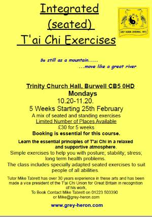 Tai Chi Classes - click to vew larger image