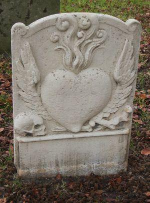 Flaming Heart Stone in St. Mary's Church Yard